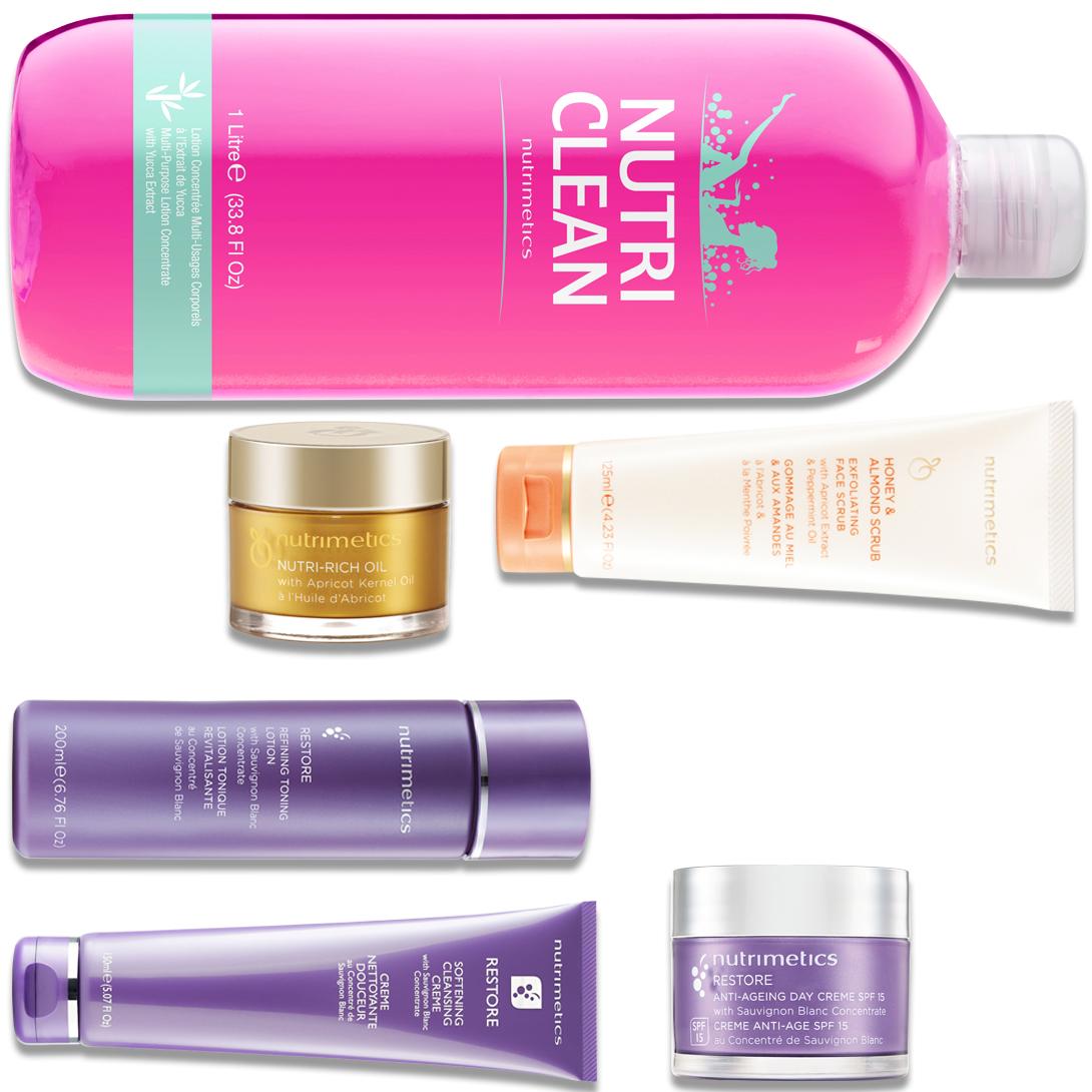 Produit - Nutrimetics France : La Collection Nutri Clean - Collections Restore