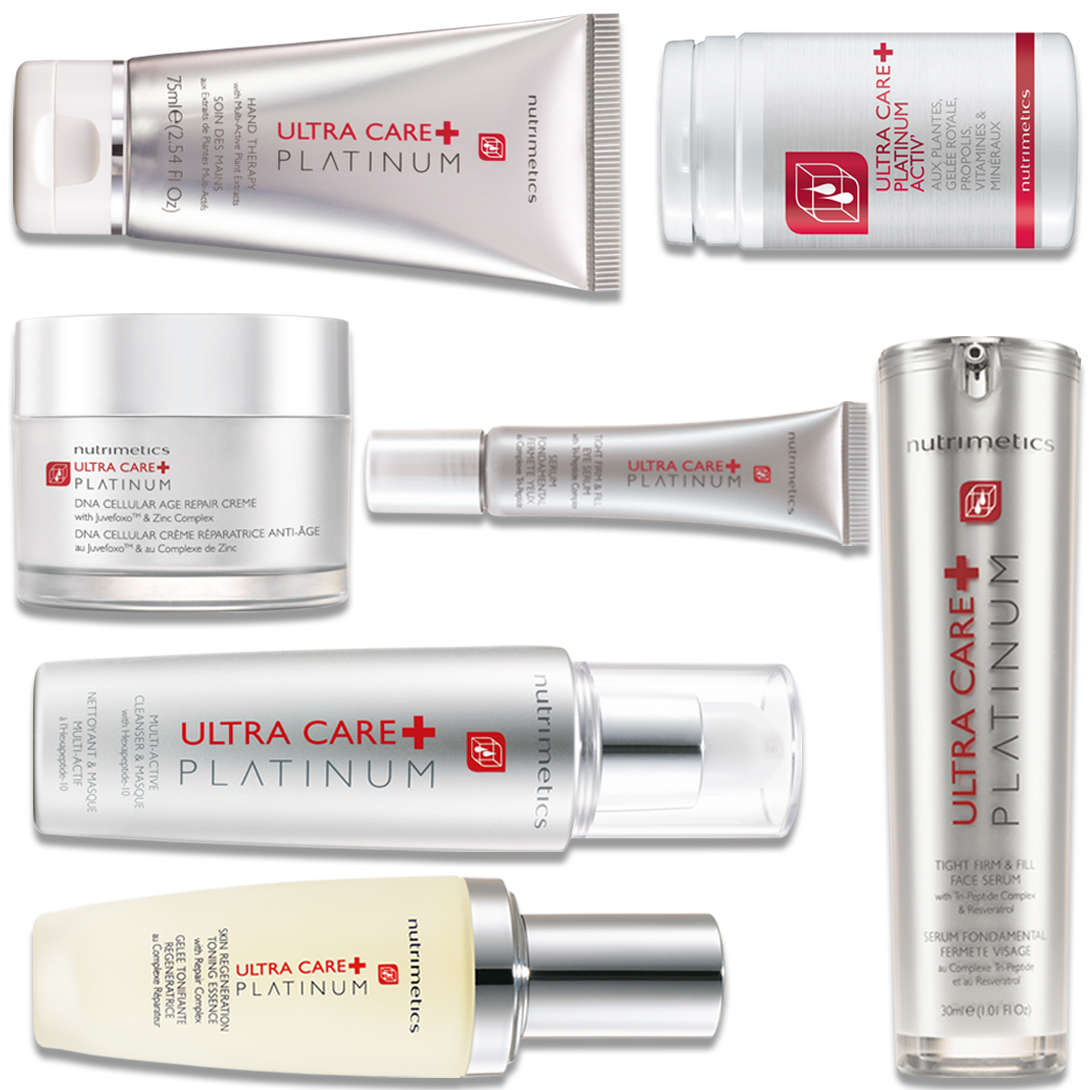 Produit - Nutrimetics France : La Collection 100% Platinum - Collections Platinum