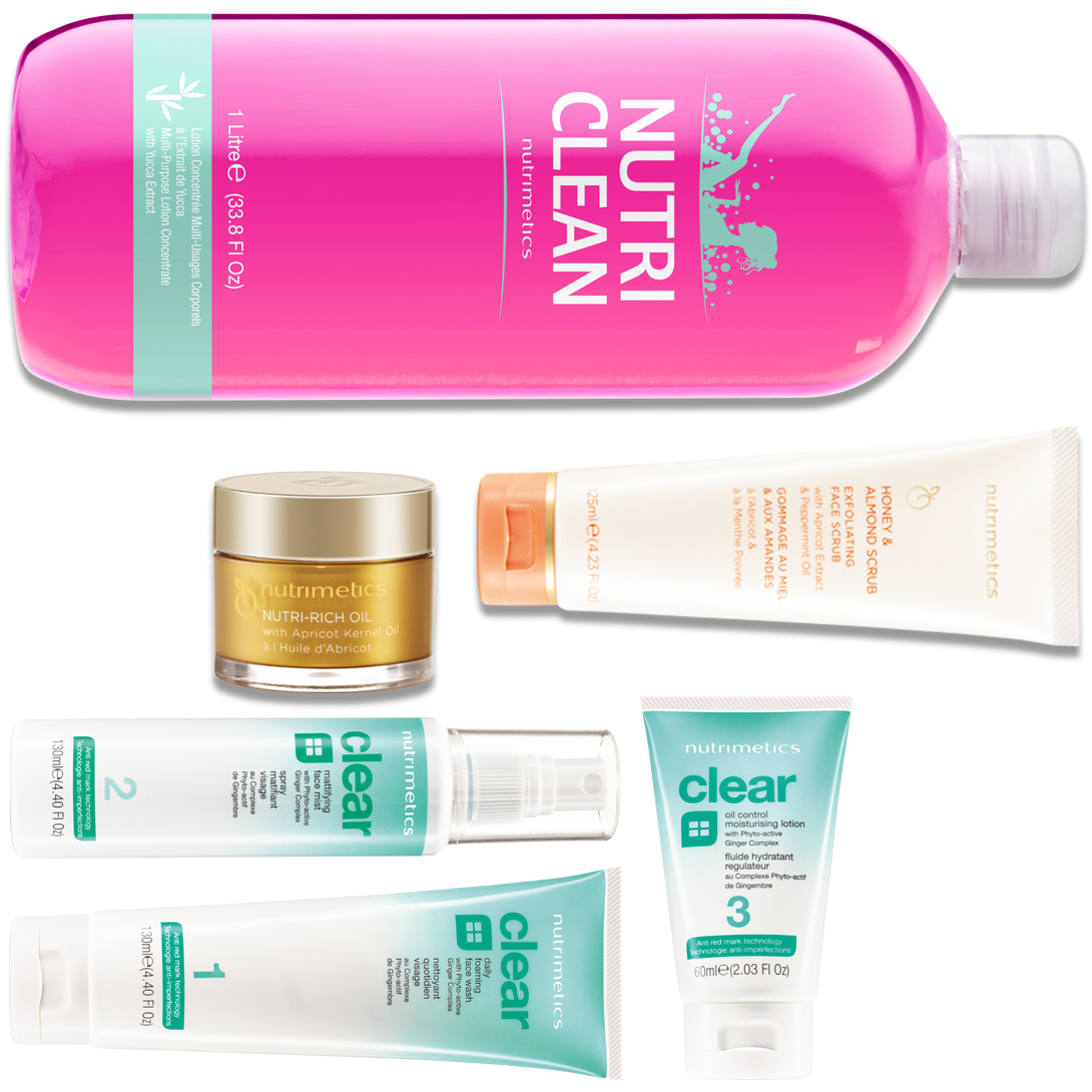 Produit - Nutrimetics France : La Collection Nutri Clean - Collections avec Nettoyant Quotidien Visage