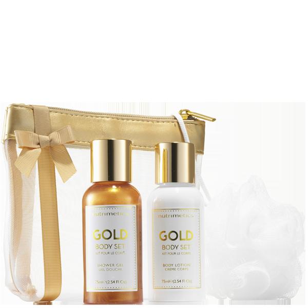 Produit - Nutrimetics France : Kit pour le Corps Gold - Les Essentiels Corps