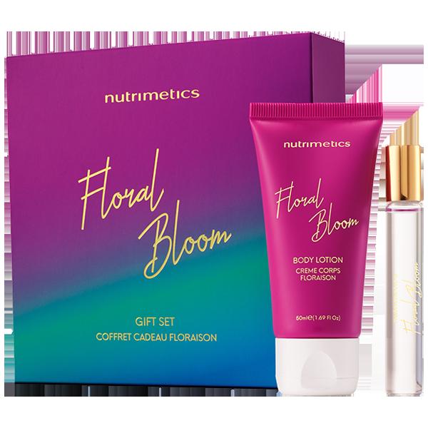 Produit - Nutrimetics France : Coffret Cadeau Floraison - Soin hydratant corps