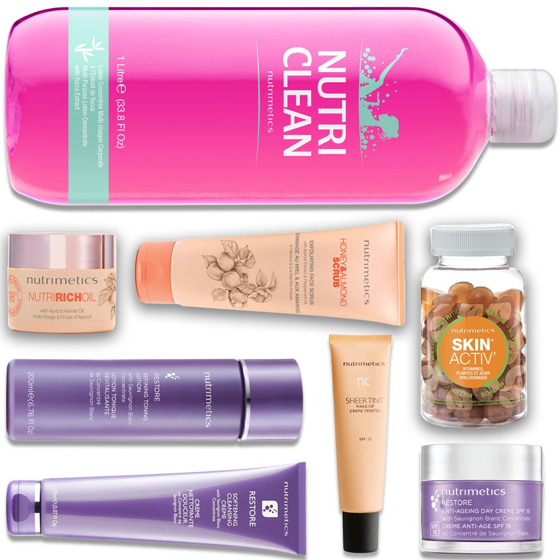 Produit - Nutrimetics France : La Top Collection 360° - Nutri Clean parfumé à la Fleur d